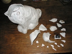porcelain repair dog